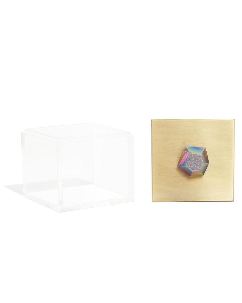 Square Acrylic Box in Iridescent Drusy