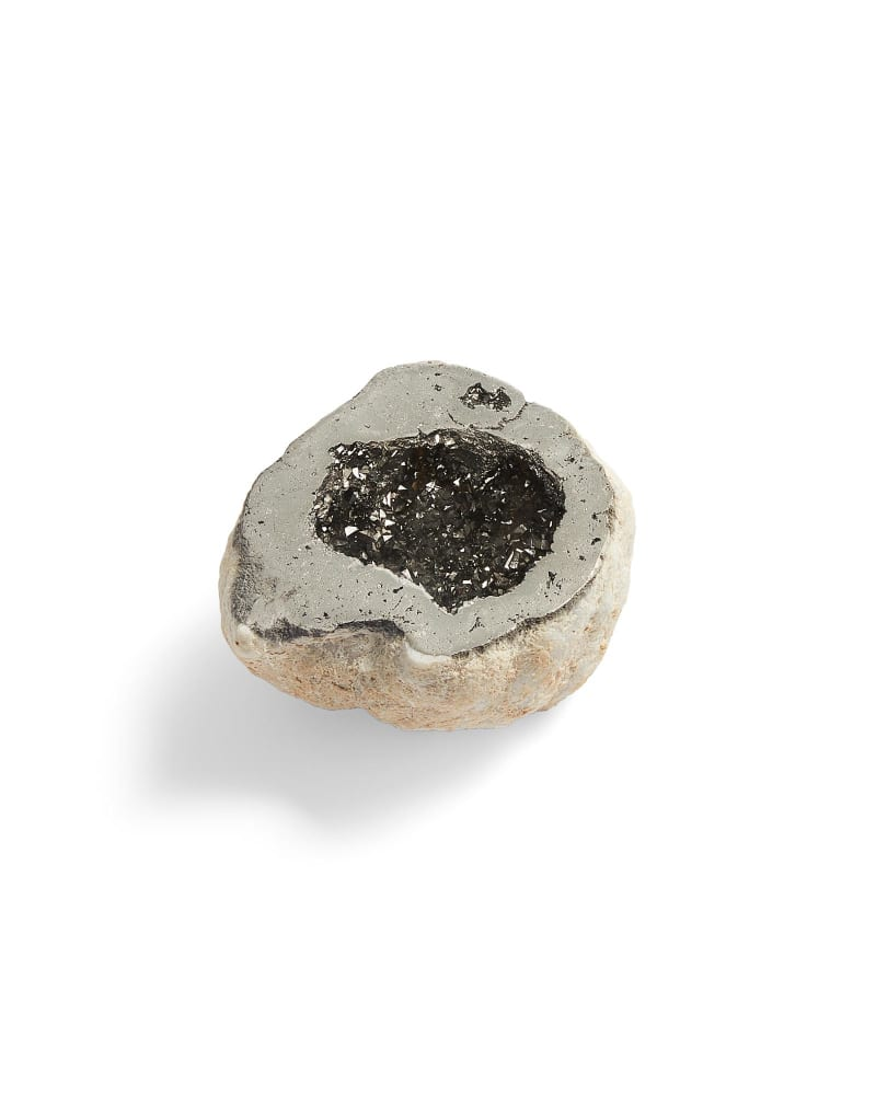 Platinum Drusy Decorative Geode