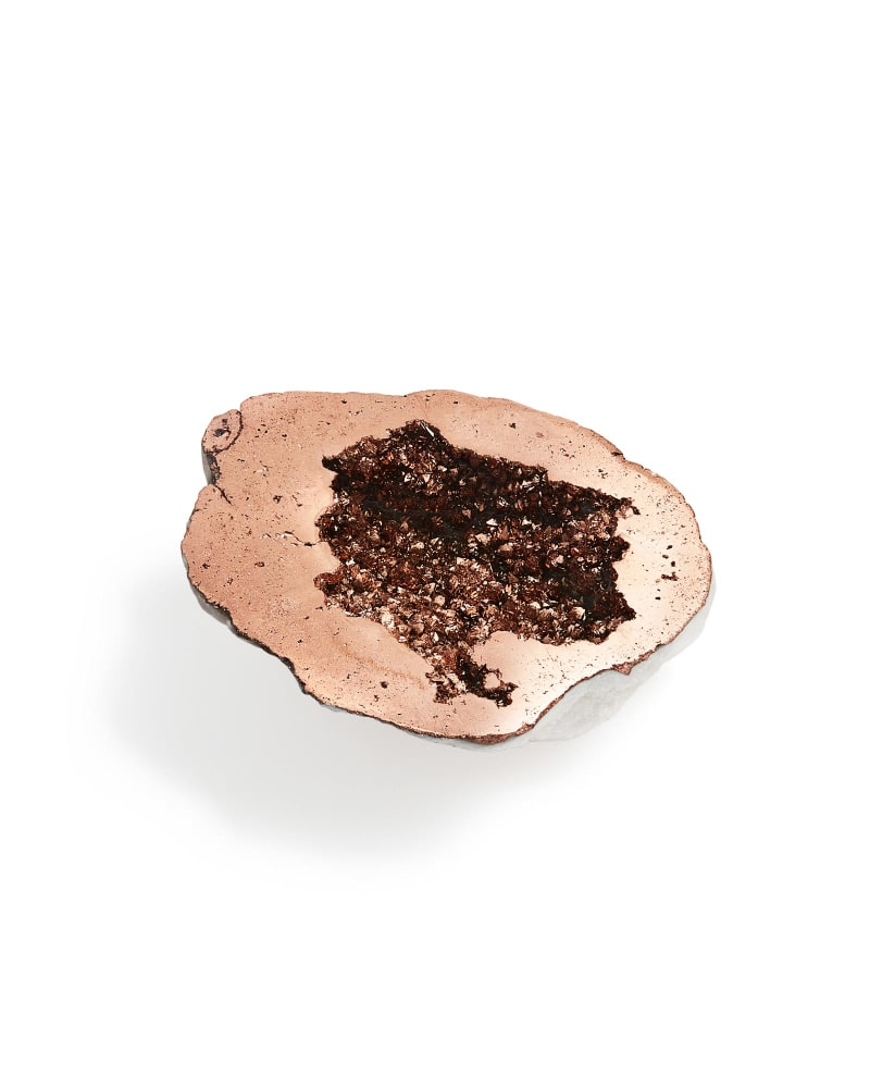 Rose Gold Drusy Decorative Geode