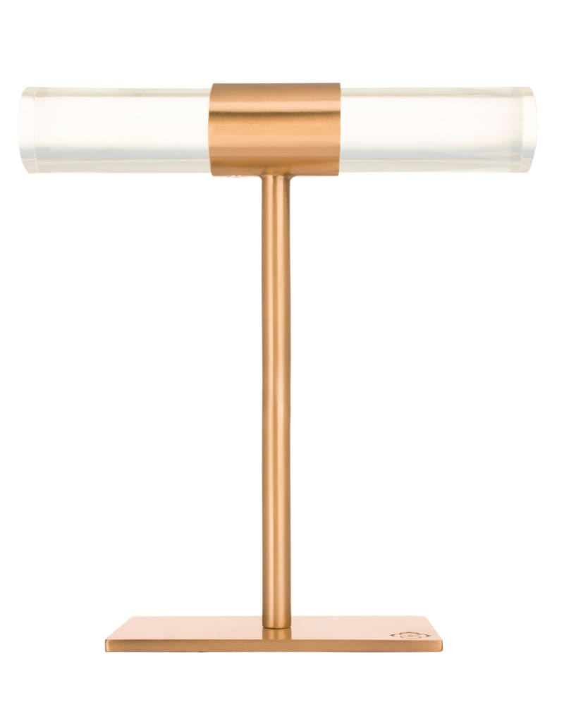 Large T-Bar Jewelry Stand in Rose Gold