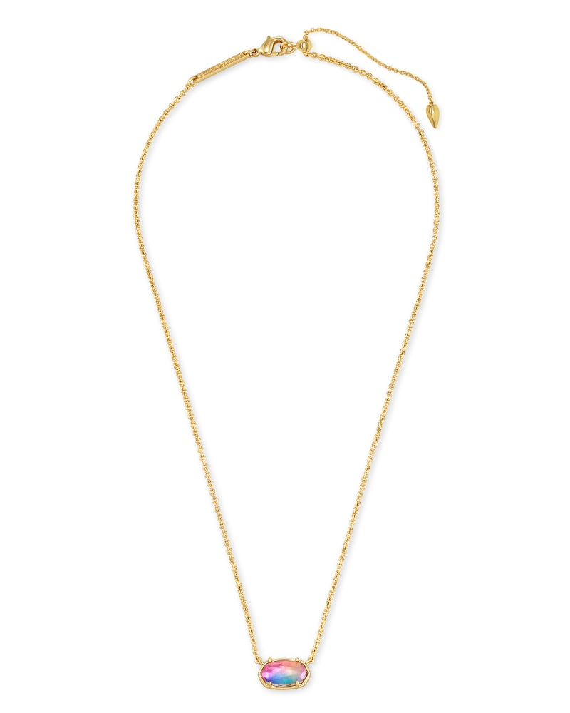 Grayson Gold Pendant Necklace in Watercolor Illusion