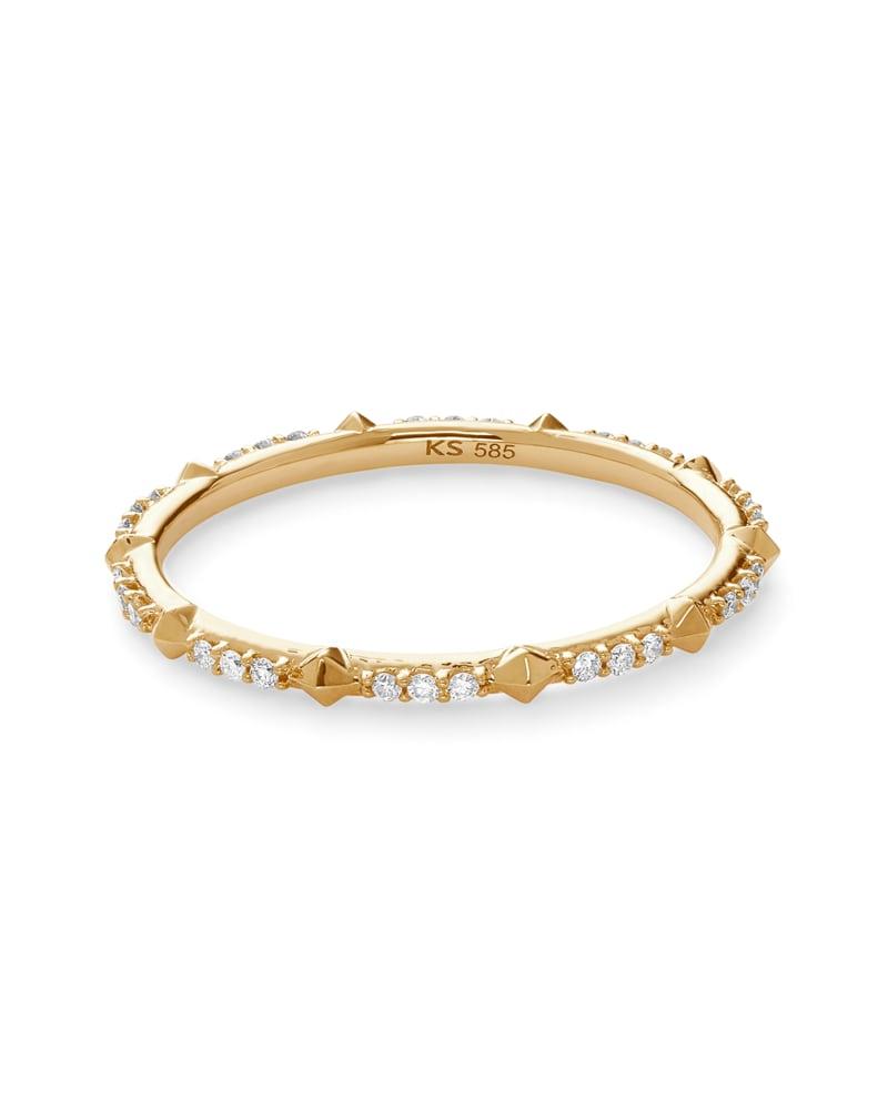 Astrid 14k Yellow Gold Ring in White Diamond