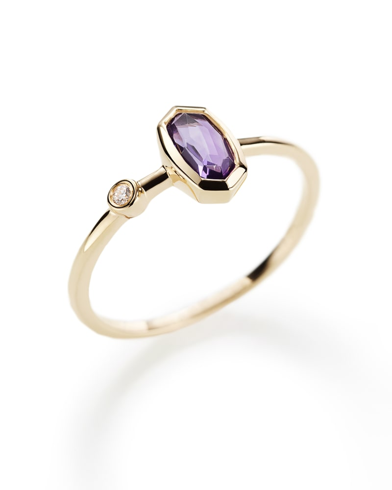 Chastain Ring in Amethyst and 14k Yellow Gold