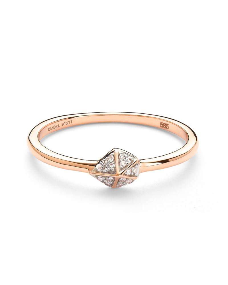 Fazia Ring in White Diamond