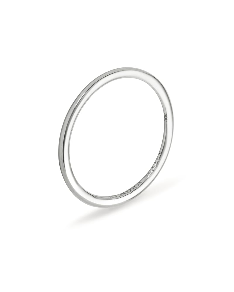 Haley 14K White Gold Band Ring