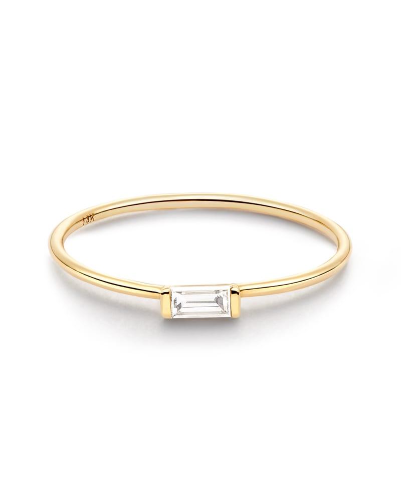 Isabella Band Ring in White Diamond