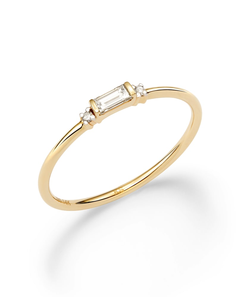 Maria Band Ring in White Diamond