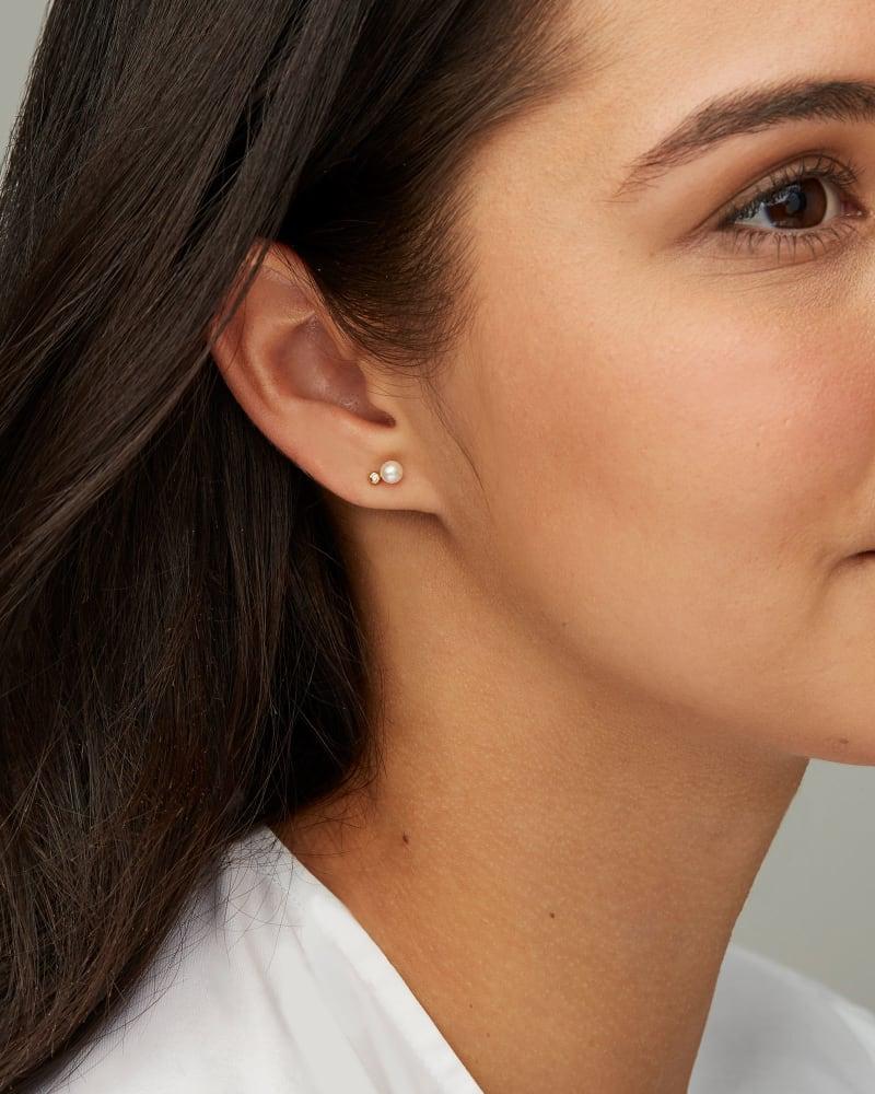 Cathleen 14k Yellow Gold Small Stud Earrings