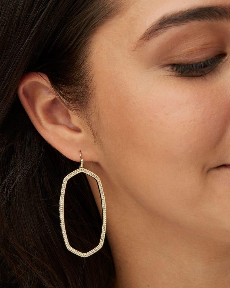 Danielle Open Frame Drop Earrings