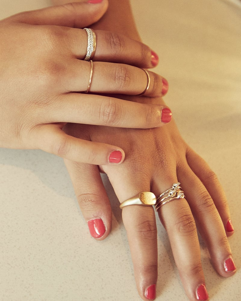 Haley 14K Yellow Gold Band Ring