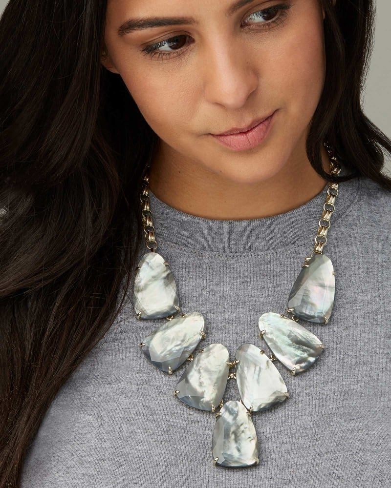 Harlow Statement Necklace in Gold