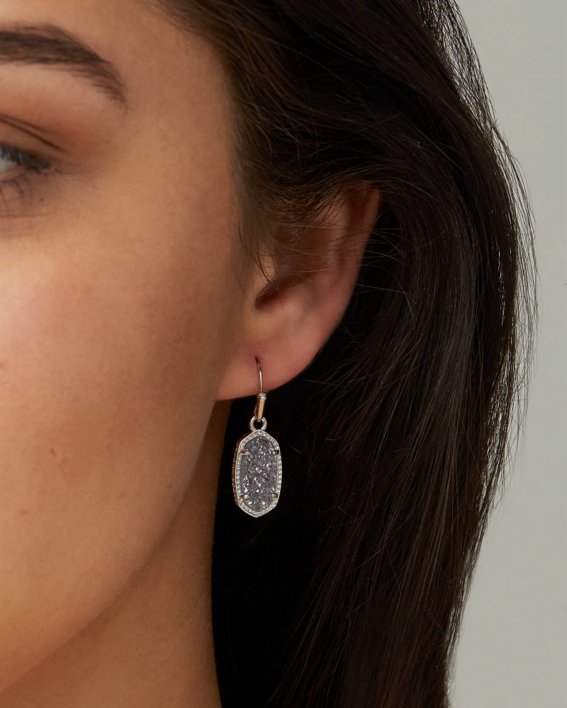 Lee Gold Drop Earrings in Ocean Kyocera Opal