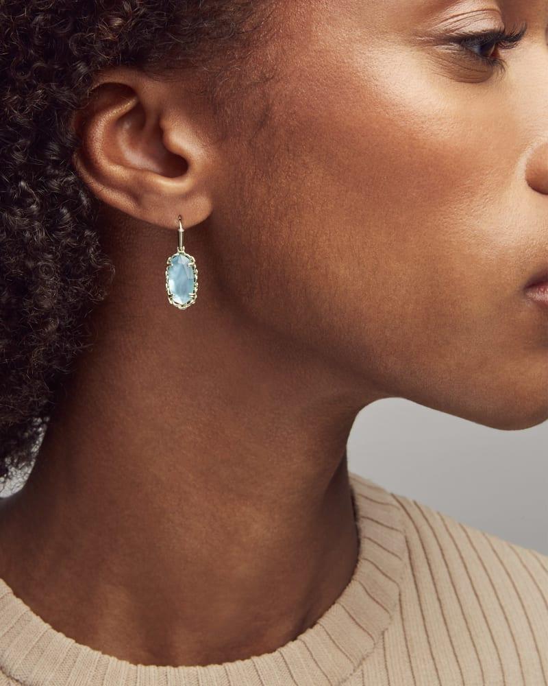 Macrame Lee Gold Drop Earrings