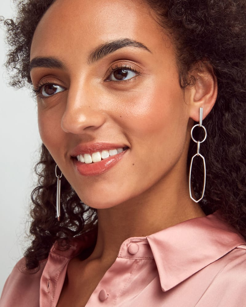 Nalani Drop Earrings in Silver