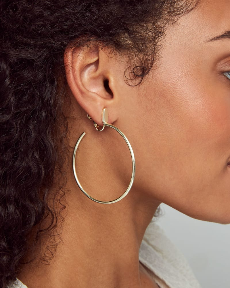 Pepper Clip On Hoop Earrings in Gold