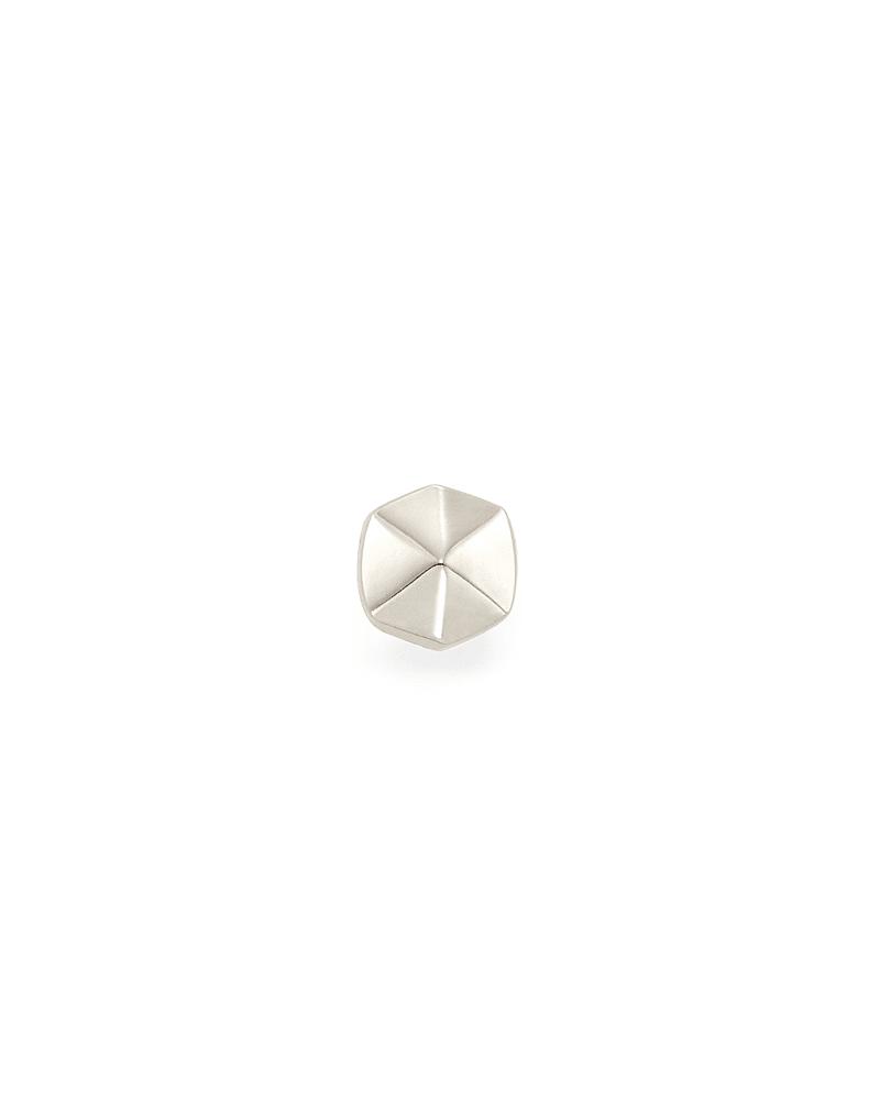 Payson Mini Stud Earring in 14K White Gold