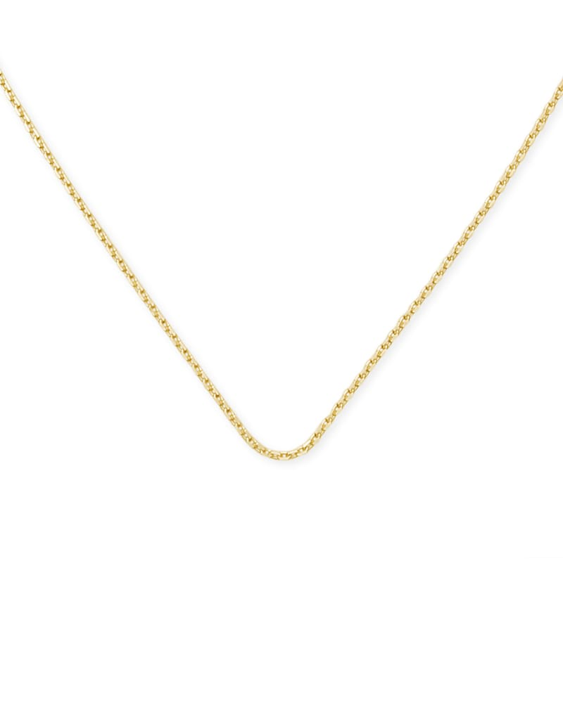 18 Inch Thin Chain Necklace in 18k Gold Vermeil