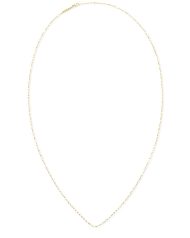 30 Inch Thin Chain Necklace in 18k Gold Vermeil