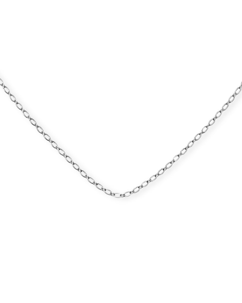 30 Inch Thin Chain Necklace in Sterling Silver