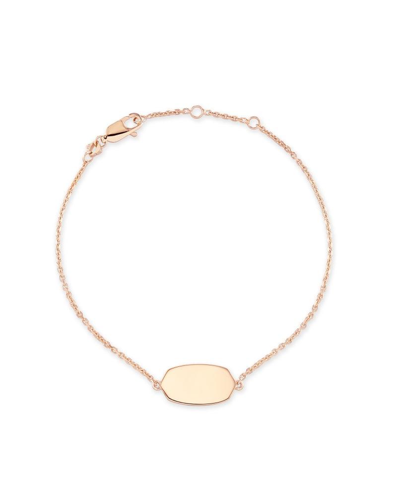Elaina Delicate Chain Bracelet In 18k Rose Gold Vermeil