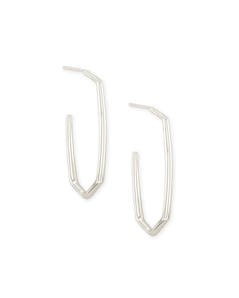 Ellen Hoop Earrings In Sterling Silver