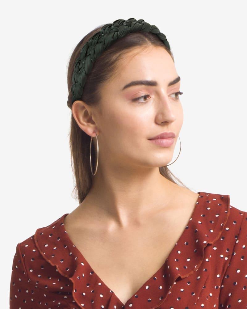 Braided Headband in Olive Green