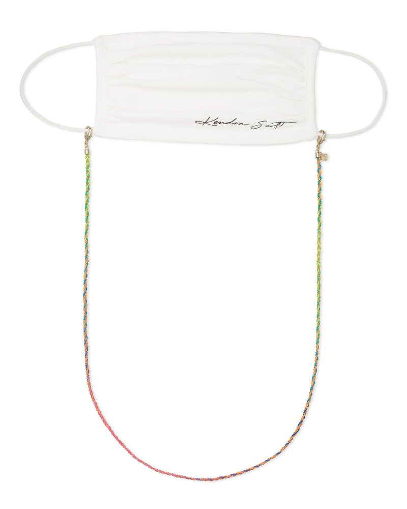 Charlie Corded Mask Chain in Neon Mix