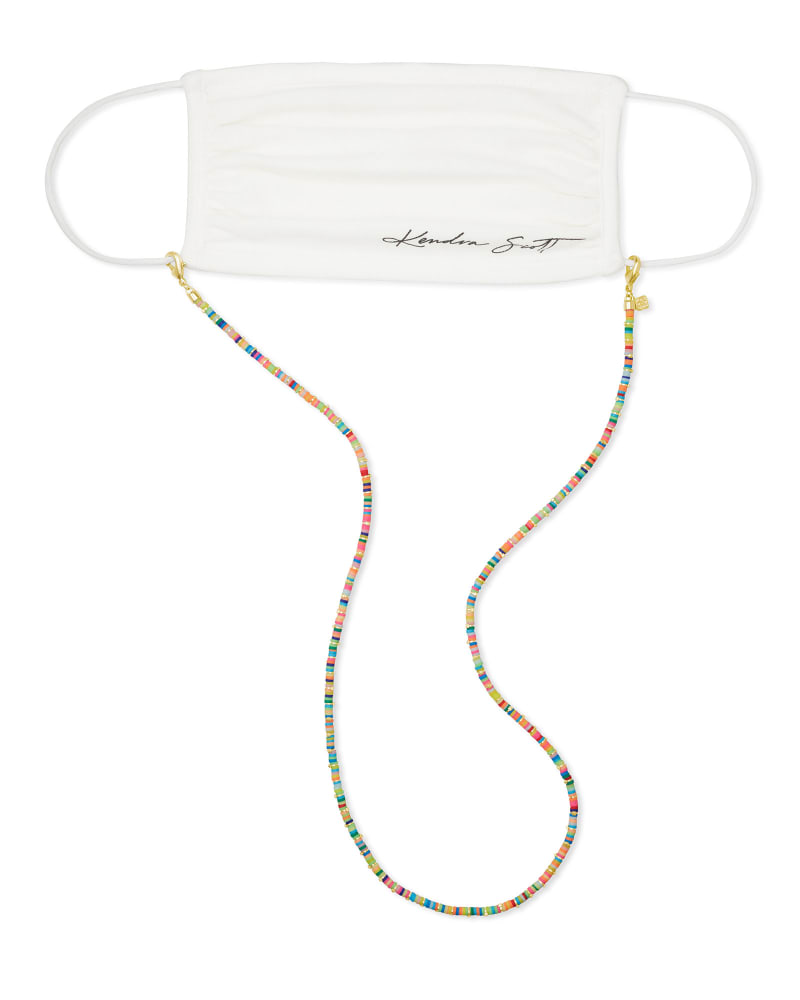 Reece Gold Mask Chain in Neon Mix