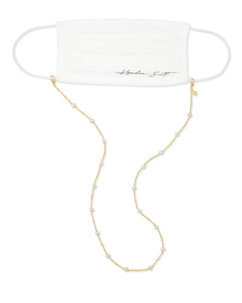 Scarlet Gold Mask Chain in White
