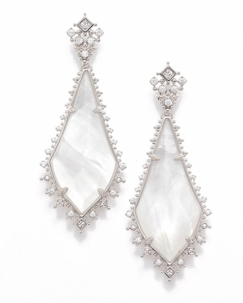 Martha Statement Earrings in Silver