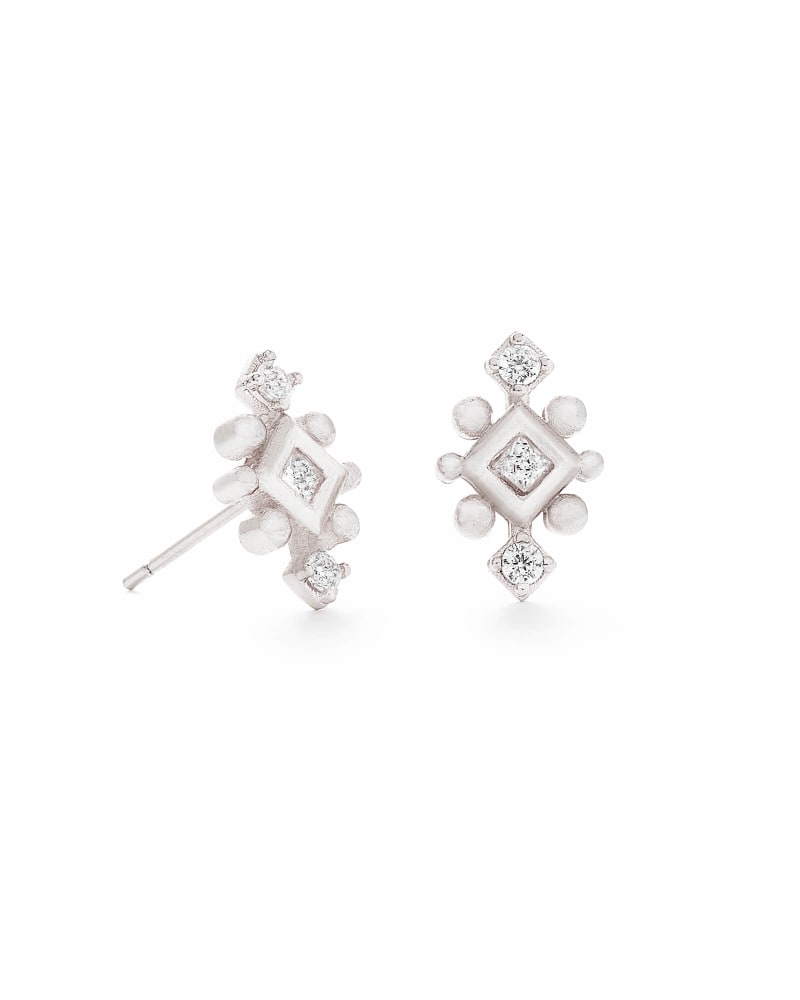 Tilda Stud Earrings in Silver