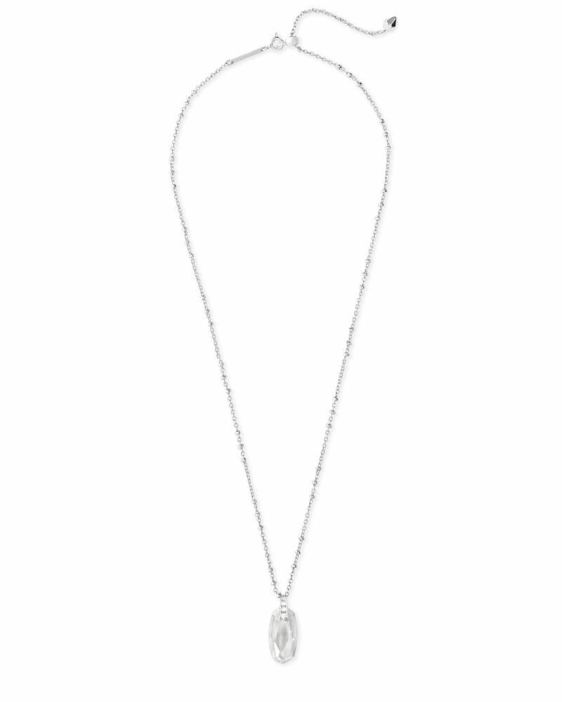 Camila Pendant Necklace in Silver