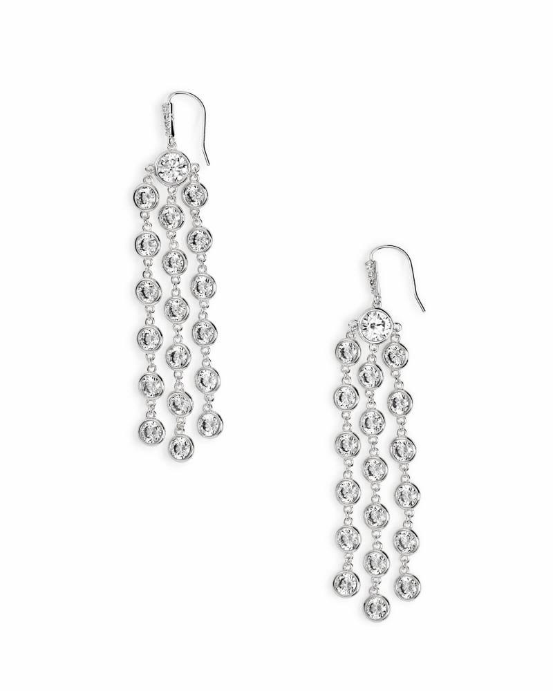 Daya Statement Earrings in Silver