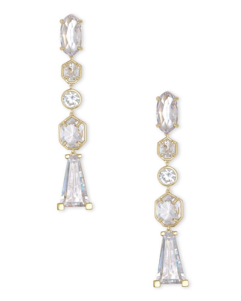 Gracelynn Statement Earrings in Lustre Glass