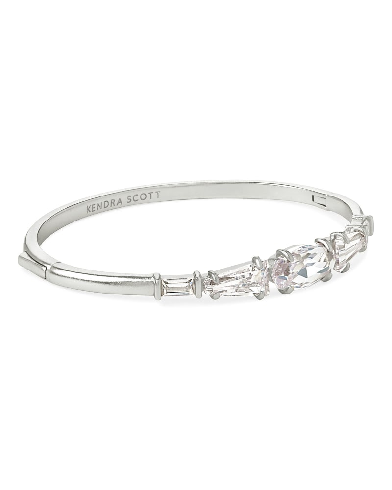 Ren Silver Cuff Bracelet in Lustre Glass