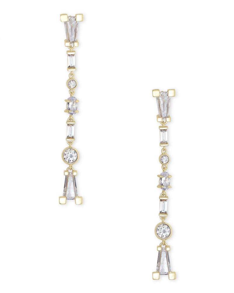 Rumi Gold Statement Earrings in Lustre Glass