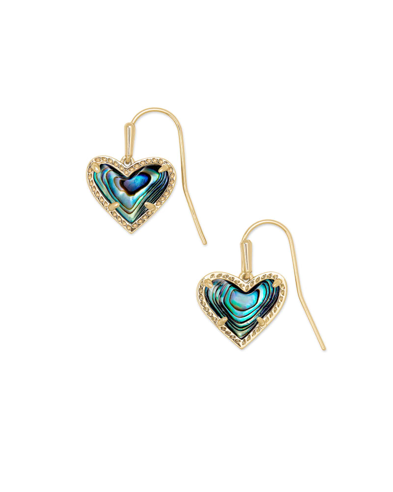 Ari Heart Gold Drop Earrings