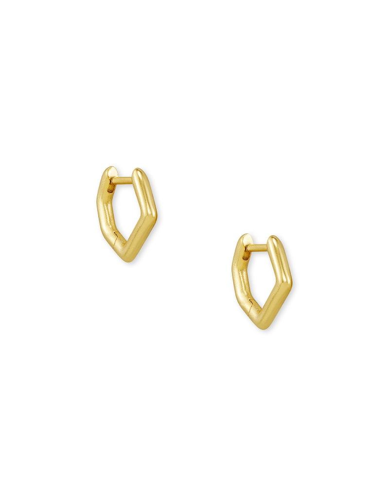 Irregular Huggie Earrings in Gold