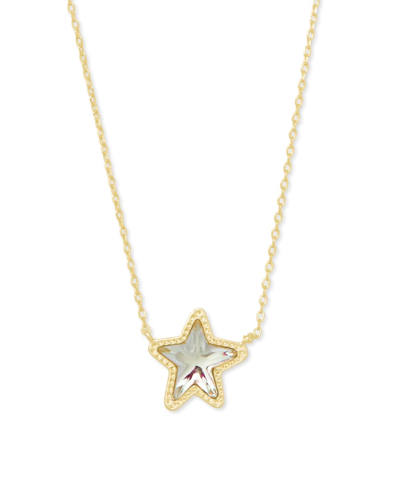 Jae Star Gold Pendant Necklace in Dichroic Glass | Kendra Scott