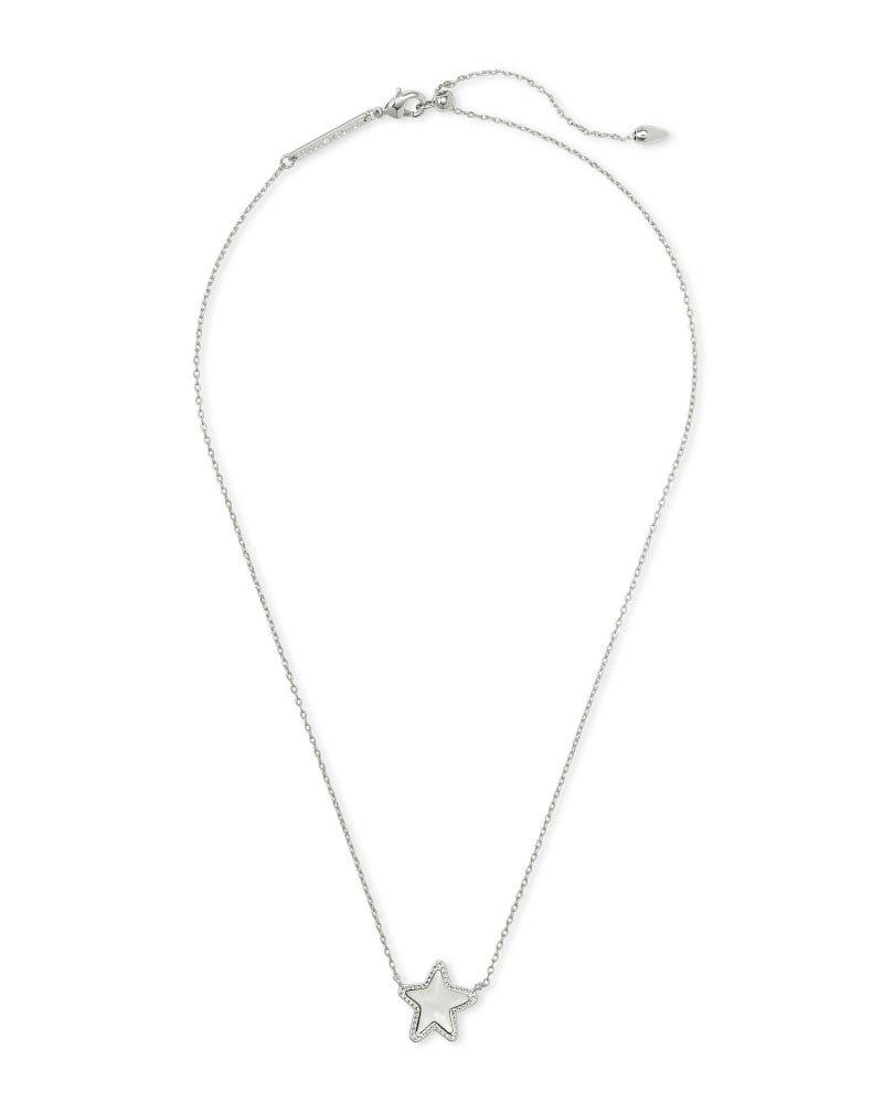 Jae Star Silver Pendant Necklace in Ivory Mother-of-Pearl