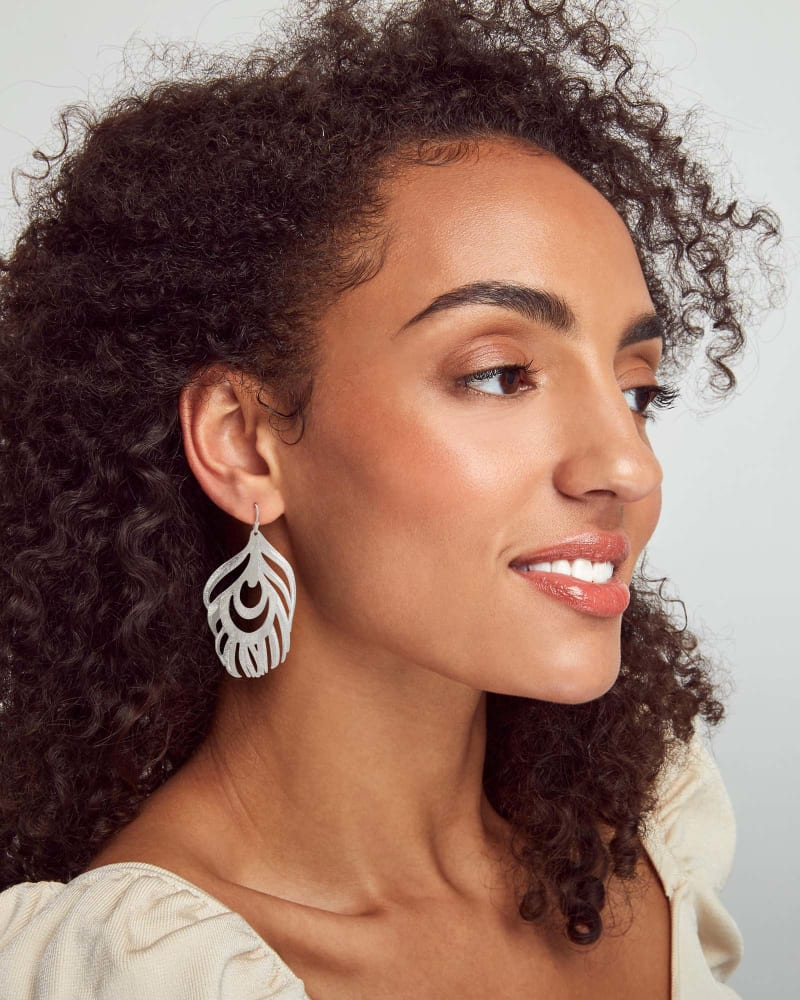 Karina Statement Earrings in Silver