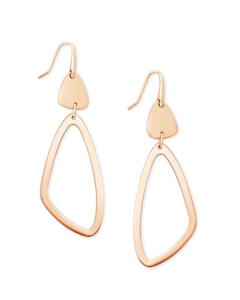 Kira Drop Earrings in Rose Gold