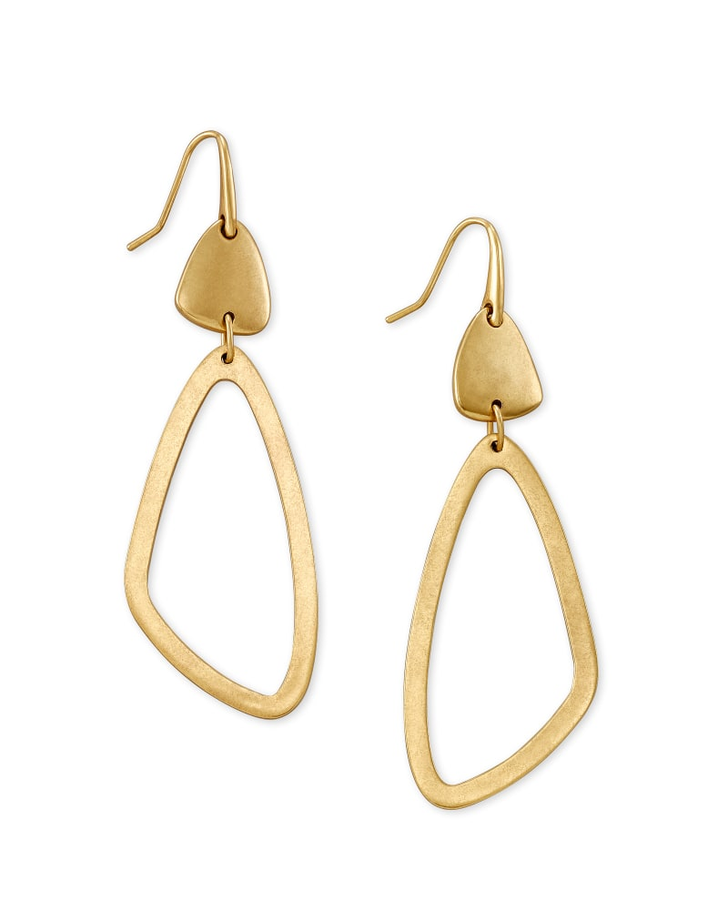 Kira Drop Earrings in Vintage Gold