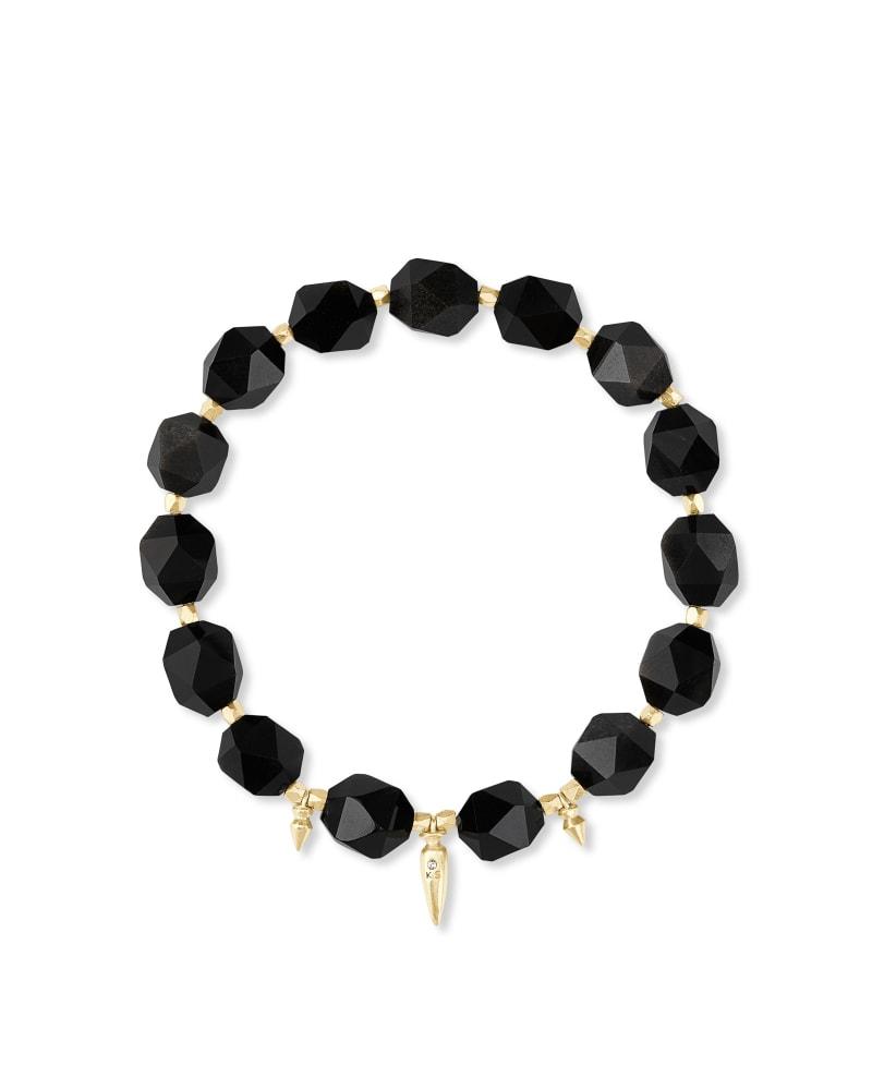 Sadie Gold Stretch Bracelet in Golden Obsidian