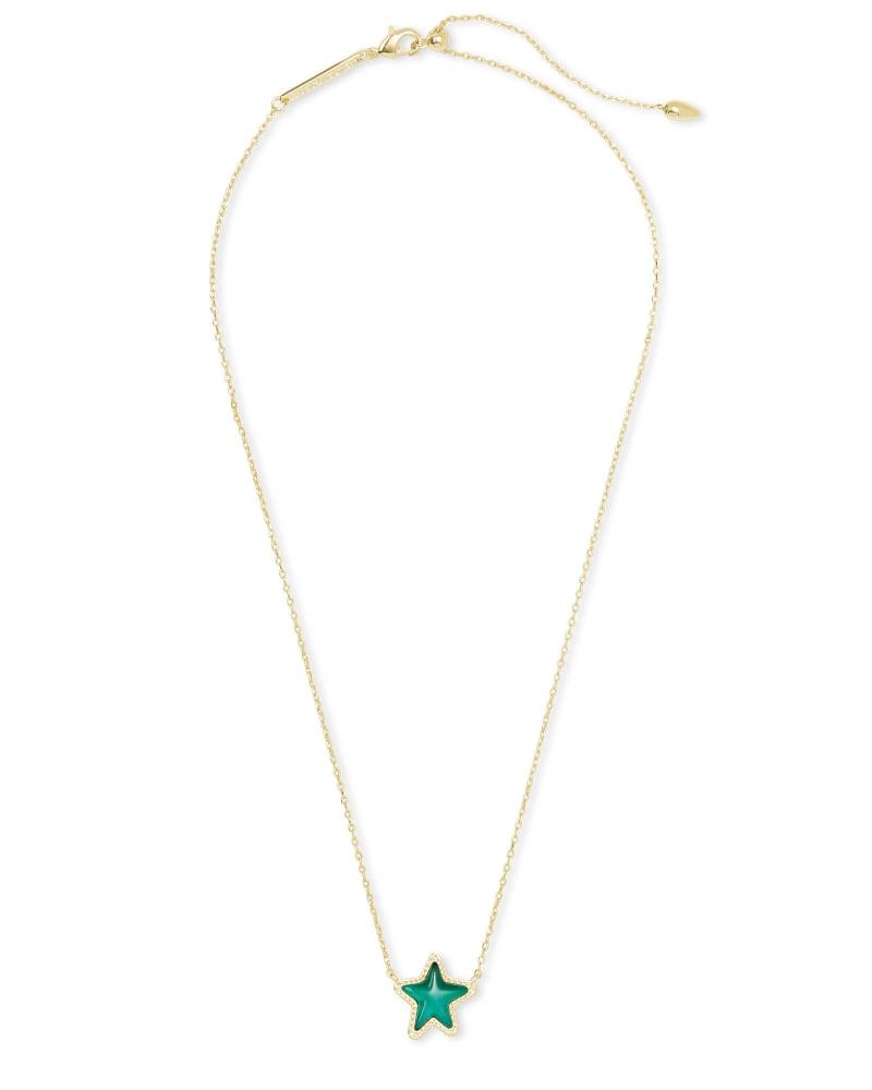 Jae Star Gold Necklace in Emerald Cat's Eye