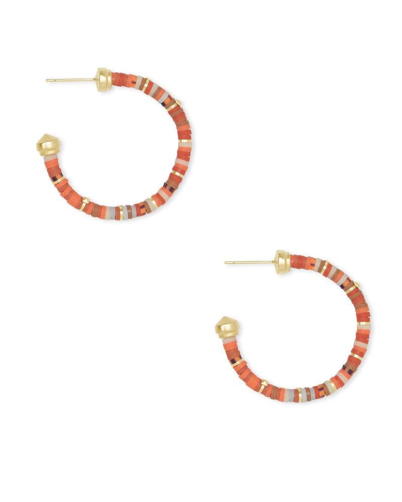 Reece Gold Small Hoop Earrings in Goldstone Mix