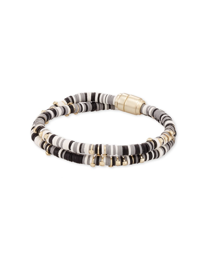 Reece Gold Wrap Bracelet in Gray Mix