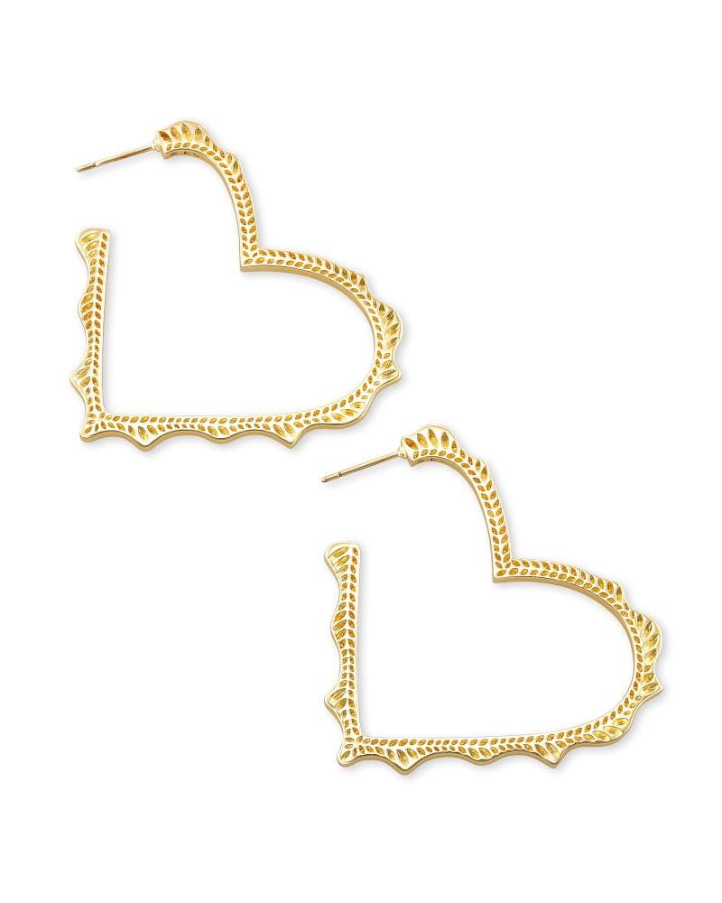 Sophee Heart Hoop Earrings in Gold | Kendra Scott