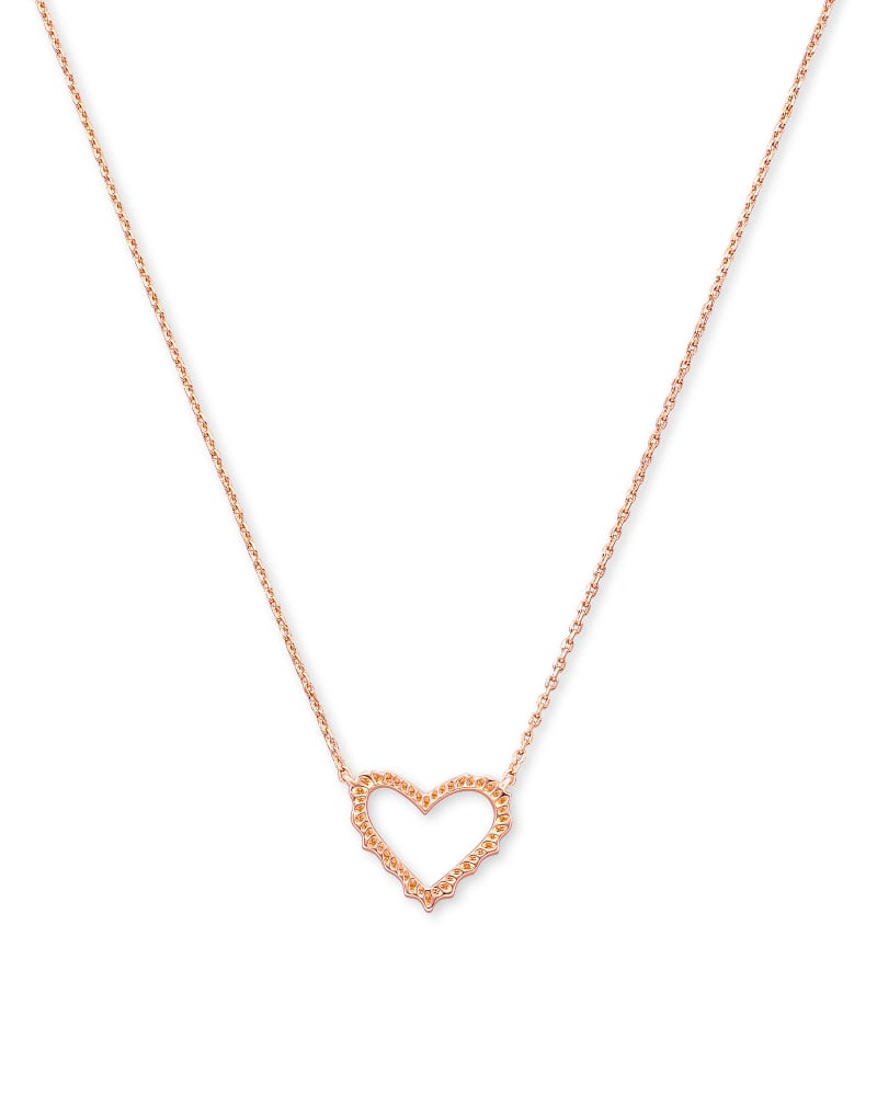 Sophee Heart Small Pendant Necklace in Rose Gold