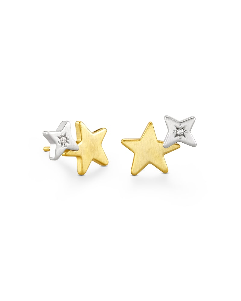 Jae Star Ear Climber Earrings in Mixed Metal